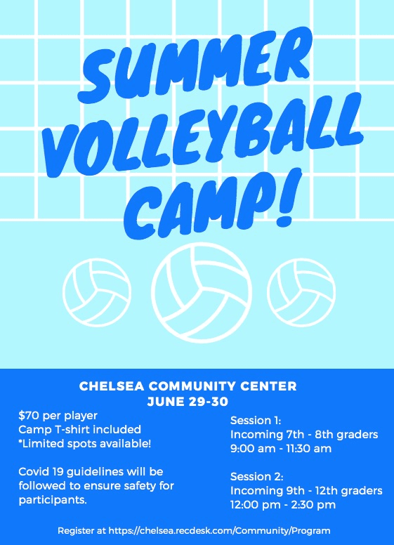 High School and Middle School Volleyball Camp