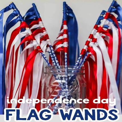 Independence-Day-Flag-Wands-with-Ribbon