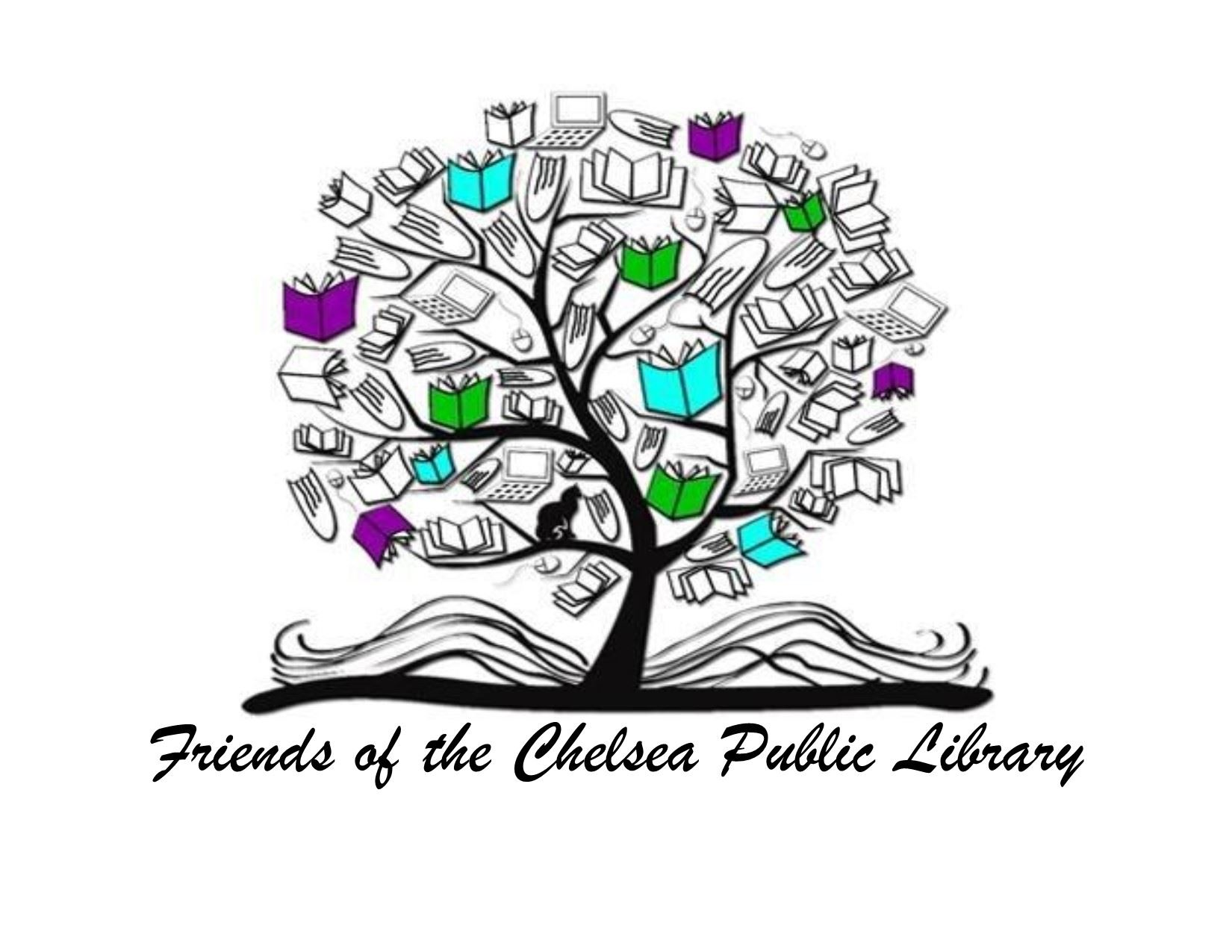 Friends of the Chelsea Public Library Logo