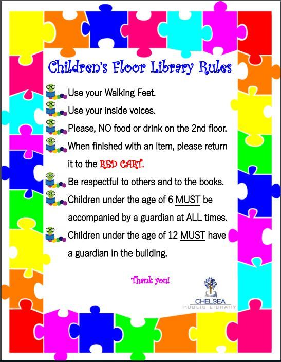 library childrens floor rules