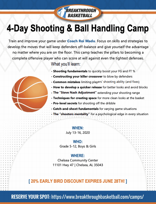 Shooting and Ball Handling Camp
